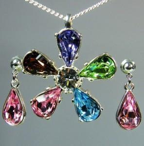 Swarovski sada šperků - kytky