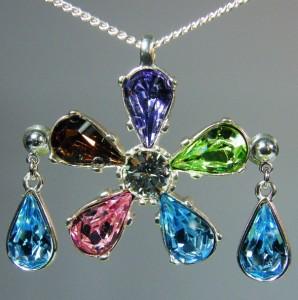 Swarovski sada šperků - kytičky